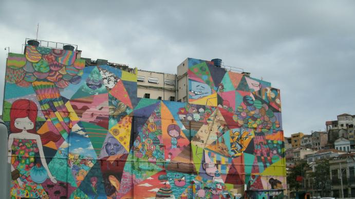 Painel na zona portuária do Rio de Janeiro