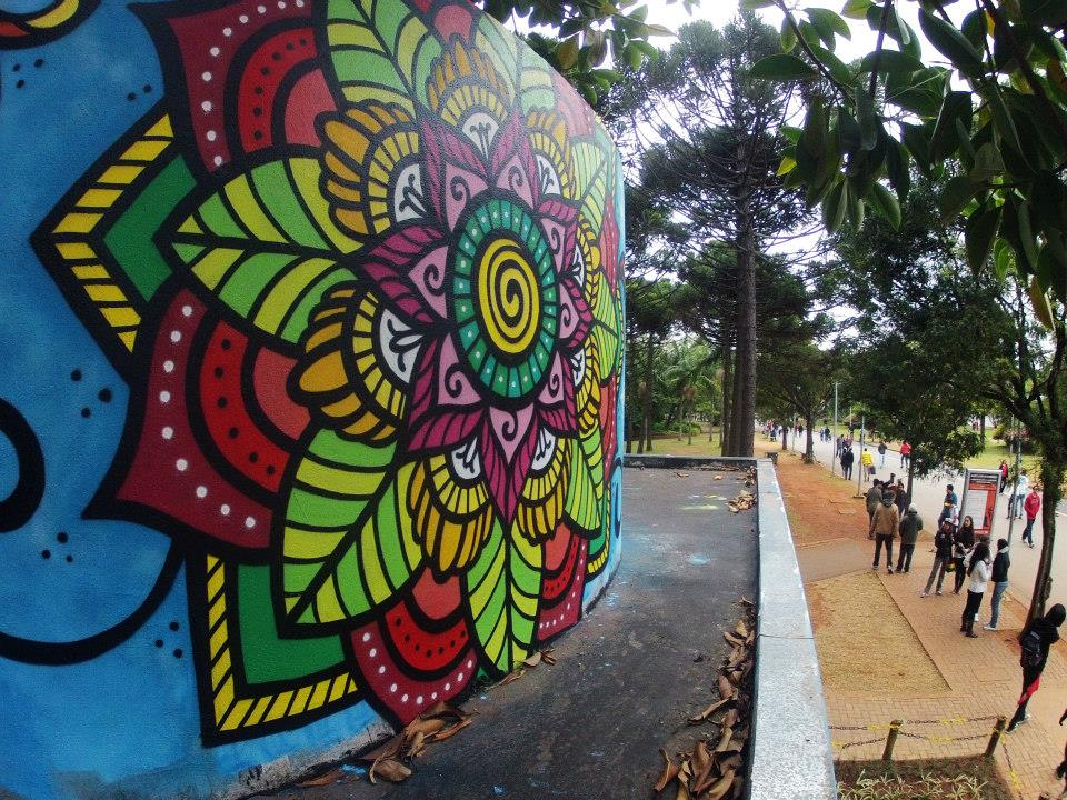 Grafite de Danilo Roots no Parque do Ibirapuera