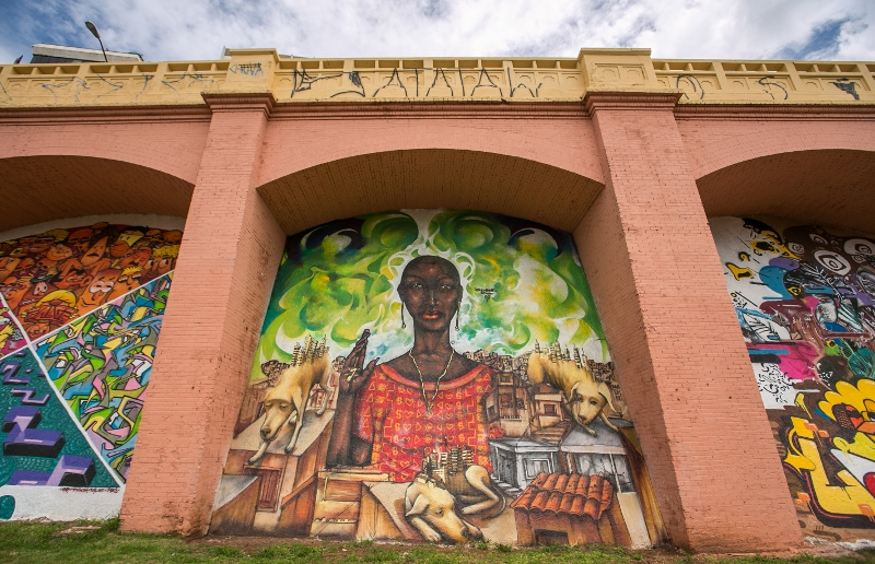 Grafite nos Arcos do Jânio