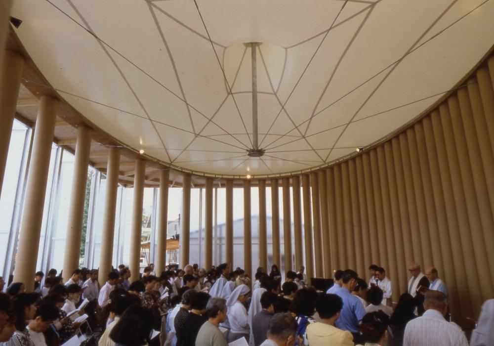 Igreja de papelão em Kobe, Japão