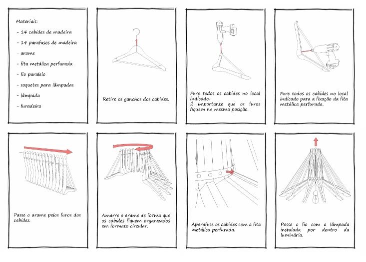 Ilustração com sete dicas para organizar as roupas em cabides