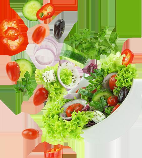 Prato com salada, portal Namu