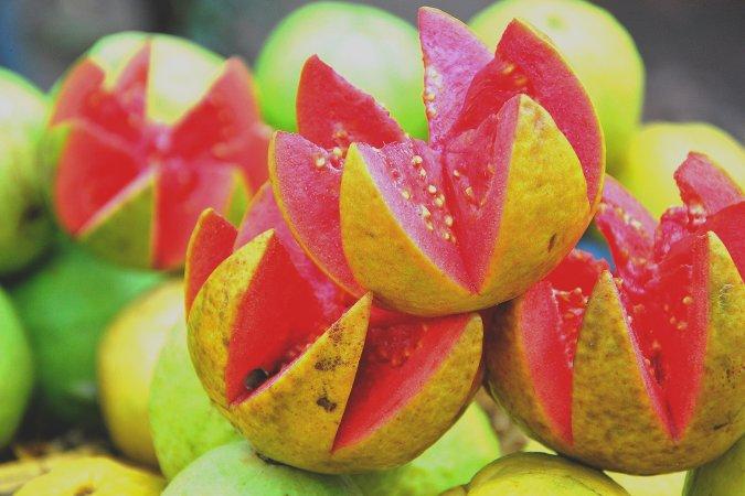 frutas da estação goiaba