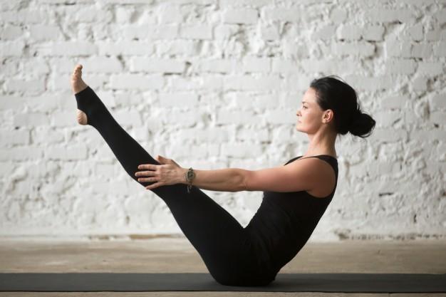 pilates emagrece posição teaser