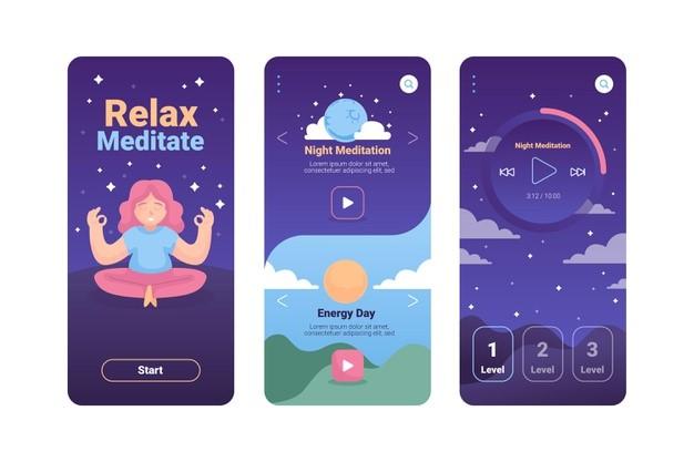 como é um aplicativo de meditação